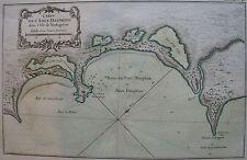 CARTE DE L'ANCE DAUPHINE DANS L'ISLE DE MADAGASCAR par Bellin,  carte originale