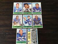 🏈1964 Philadelphia Gum football 8 card lot Detroit Lions Joe Schmidt sharp 🏈