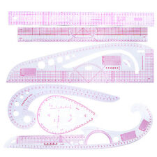 6pcs/Set Drawing Straight & Curve Sewing Clothing Rulers for Tailor Sewing