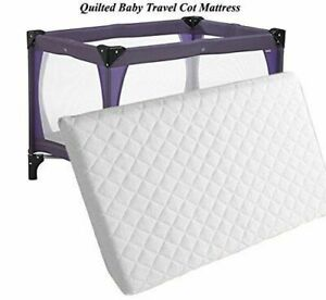 Thick Travel Replacement Baby Cot Mattress To Fits iSafe 120 x 60 x 7.5cm