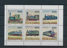 LO03711 Yugoslavia railroads locomotives trains good sheet MNH