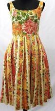 ISAAC MIZRAHI Target Garden Party Dress Floral Retro Rockabilly Wedding RARE 8