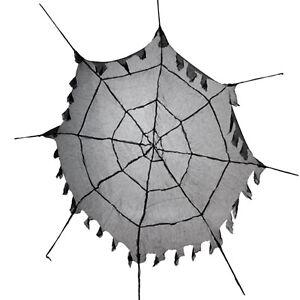 1.5m Halloween Gothic Black Fabric Spider Web Cobweb Prop Decoration