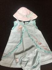 Max And Tilly Baby Girls Dress Pants And Hat Green Age 3-6 Months