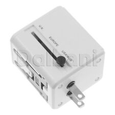 EU AU UK US To Universal World Travel AC Power Plug Convertor Adapter w/dual USB