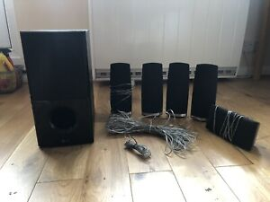 LG Home Theatre System, Subwoofer And Five Surtound Speakers