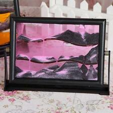 Color Moving Sand Glass Art Picture Photo Frame Home/Office Decor Desk gift り