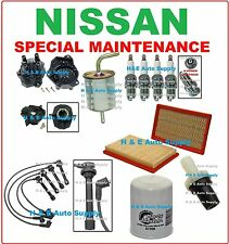 FOR 98-01 NISSAN ALTIMA TUNE UP KITS: SPARK PLUGS, WIRE SET, CAP ROTOR & FILTERS