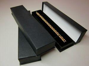 10 x Long Black Jewellery Gift Box-Watch Bracelet-Cardboard-Budget -ASD3