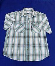 """COLUMBIA S.S. Cotton Check/Plaid Shirt 44""""(112cm) Chest"""