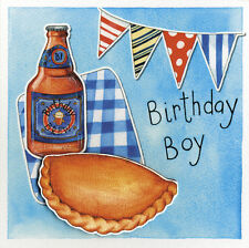 Birthday Boy Embellished Pasty Birthday Greeting Card Kate Brazier Art Cards