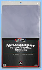 BCW: Polypro Sleeves: NEWSPAPER: Size 16x24: 500: 10 Packs (50 pk) CASE-LOT