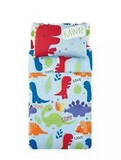 Kids Boys Dinosaur Blue Duvet Set - Cot & Cot Bed toddler Bedding