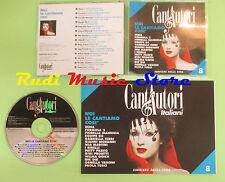 CD CANTAUTORI ITALIANI 8 compilation PROMO 1995 MINA MORANDI MANNOIA(C16) no mc