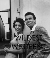 MONTGOMERY CLIFT smoking cigarette w/ ELIZABETH TAYLOR Studio Lot Photo LIZ