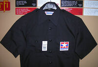 GENUINE US PROPPER TACTICAL POLICE SHIRT 2 POCKETS EPAULETS RIP STOP BLACK NEW