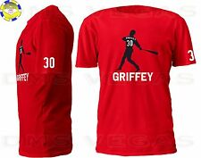 Ken Griffey Jr Seattle Mariners Cincinnati Reds Jersey T-Shirt Men Size S-5XL