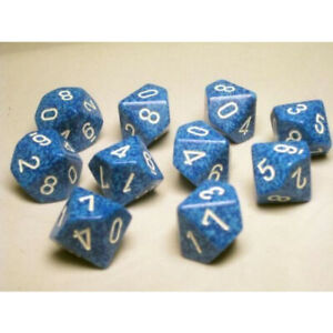 Dice and Gaming Accessories D10 Sets Speckled speckled: D10 Water (10)