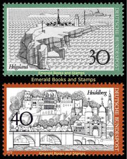 EBS Germany 1972 Tourism (VII) Heligoland and Heidelberg - Michel 746-747 MNH**
