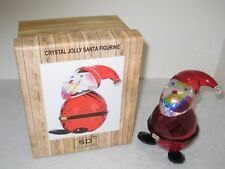Simon Designs Crystal Jolly Santa Figurine Paperweight Sdsanta New In Box