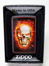 """Zippo   """"BURNING  SKULL""""  -  NEU & ovp - #605"""