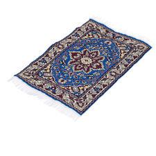 Vintage Doll House Miniature Carpet Turkish Woven Floral Rug Floor Cover D#