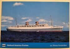 ss Nieuw Amsterdam . Holland America Line HAL Boat Luxury Passenger Cruise Ship