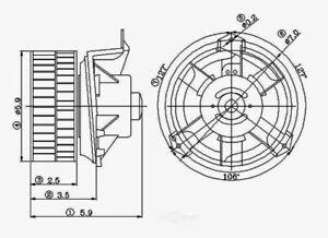 HVAC Blower Motor Front Global 2311569