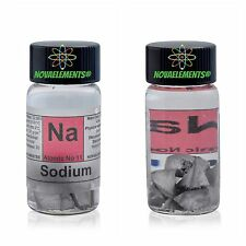 Sodium metal element 11 Na sample of 1 gram - oxide free - 99,8% pure in vial
