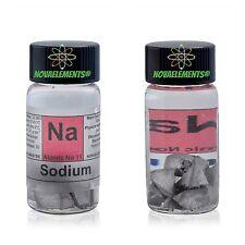 Sodium metal element 11 Na sample of 1 gram - oxide free - 99,8% pure in vial