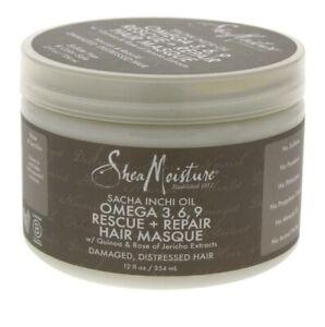 Shea Moisture Sacha Inchi Oil Omega 3, 6, 9 Rescue + Repair Hair Masque