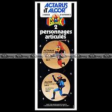 GOLDORAK Figurines ACTARUS & ALCOR CEJI ARBOIS 1978 - Pub / Publicité / Ad #C148
