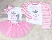 Baby girl 1st 2nd 3rd 4th 5th birthday outfit And Pjs Pyjamas Set