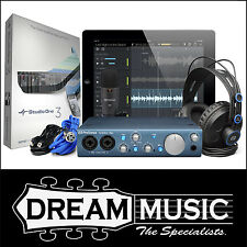 PreSonus AudioBox iTwo Studio iOS Interface w/ Mic Headphones Studio One RRP$412