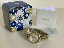 NEW! FOSSIL GOLD-TONE STAINLESS STEEL BRACELET WATCH BQ3050 $135 SALE