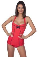 Panache Britt Halter Underwire Polka Dot Retro Skirted One-Piece Swimsuit SW0820