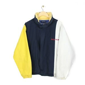 Nautica Vintage Reversible 90s Mens Striped Multicoloured Jacket - Size M