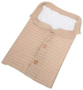 Newborn Baby Swaddle Blanket Wrap Knit Fleece Sleeping Bag Toddler Stroller