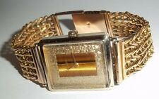 1975 Mens Omega 14k Solid Gold Dress Watch Tiger's Face 14k Band 46.3g Free Ship
