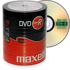 Maxell DVD-R 100 PacK Blank Discs Recordable DVD 16x 4.7GB 120mins UK Seller