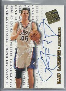 1998 Press Pass - RAEF LaFRENTZ - Autograph Rookie - KANSAS JAYHAWKS