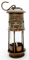 Vintage Brass Minors Oil Lamp~Antique Maritime Ship Lantern Nautical Boat Light