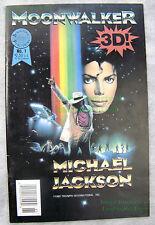 Michael Jackson MOONWALKER Comic #1 Blackthorne 3-D Series VERY NICE - BIG PICS