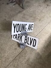 Young Youngs Avenue Ave and Park Blvd, Wildwood NJ Authentic Vintage Street Sign