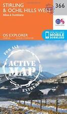 OS Explorer Map Active (366) Stirling and Ochil Hills West (os explorer active M