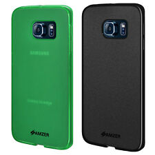 2 X PACK AMZER TPU PUDDING BACK PROTECTIVE CASE COVER FOR SAMSUNG GALAXY S6 EDGE