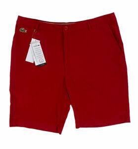 NEW Lacoste Sport Men's Golf Bermuda Shorts Ultra Dry Stretch Croc Red FH9524