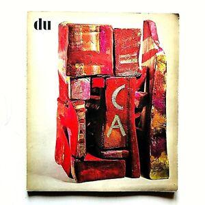 DU Kulturelle Monatsschrift Rivista Aprile 1970 Conchiglie Carl Moser Tombini