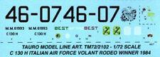 TAURO MODEL DECALS TM72/2102 LOCKHEED C 130 H HERCULES VOLANT RODEO WINNER 1984