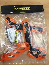 KTM EXC 125 150 200 250 300 2012-2016 ACERBIS ORANGE & BLACK FRAME GUARDS